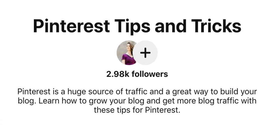 Pinterest board name example