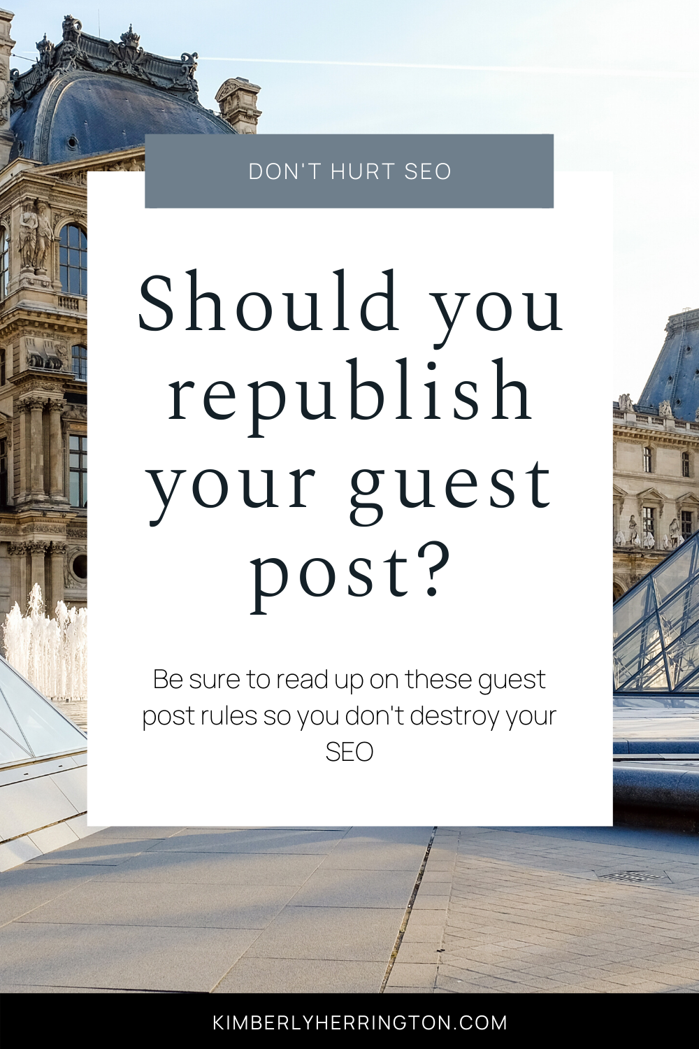 Can I Republish My Guest Post?