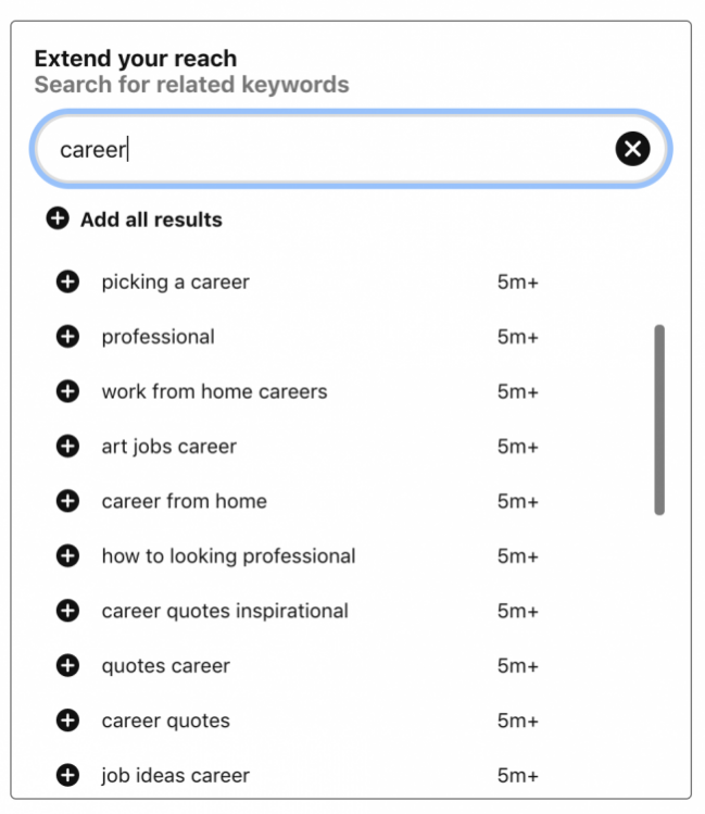Finding Pinterest board ideas with keyword research