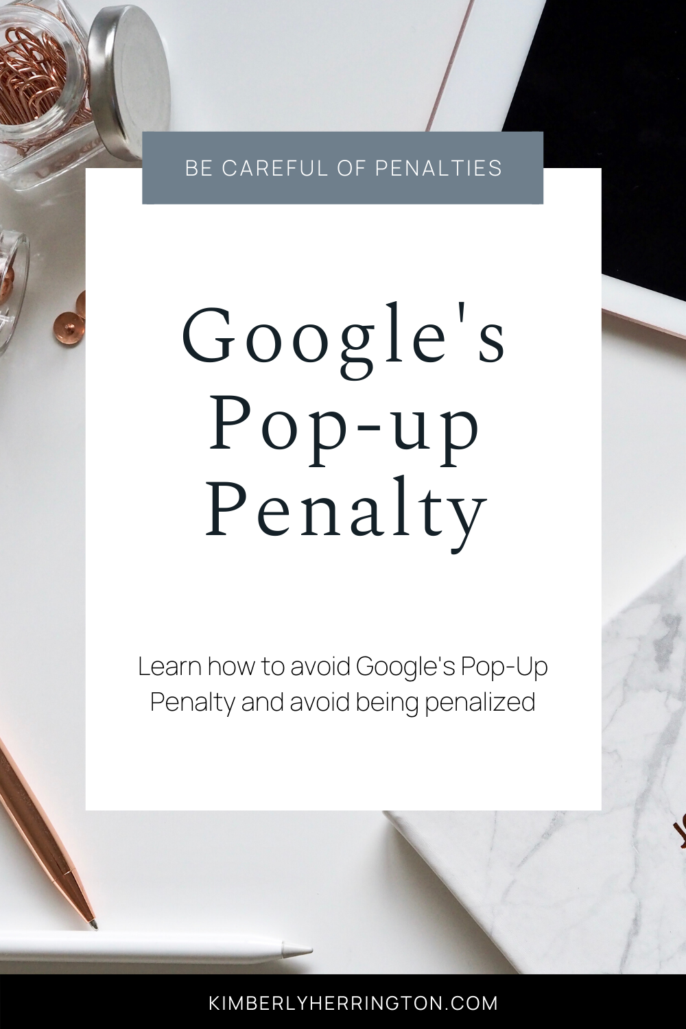 Google's pop up penalty
